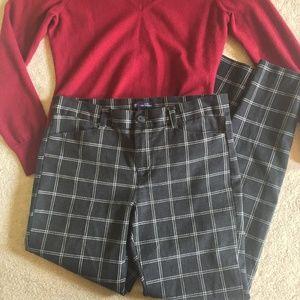Gap Black & White Plaid Trouser Dress Pants